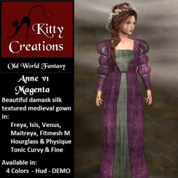 PIC Anne v1 - Magenta - Kitty Creations