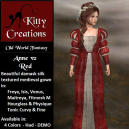 PIC Anne v2 - Red - Kitty Creations
