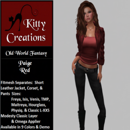 PIC Paige - Red - Kitty Creations