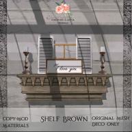 Bloom! - Shelf BrownAD