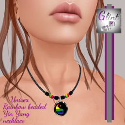 ._Glint_. Rainbow Yin Yang necklace Boxed