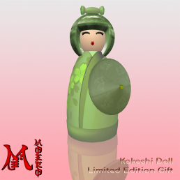 MOEKO Wagasa Kokeshi April Showers LE - 35L Sun Gift