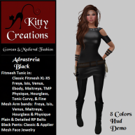 PIC Adastreia - Black - Kitty Creations