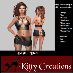 PIC Delyth - Black - Kitty Creations
