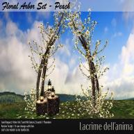 (PIC) Floral Arbor Set - Peach