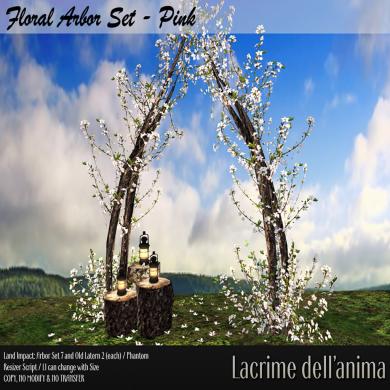 (PIC) Floral Arbor Set - Pink