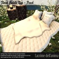 (PIC) Floral Cuddle Rug - Peach