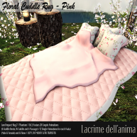 (PIC) Floral Cuddle Rug - Pink