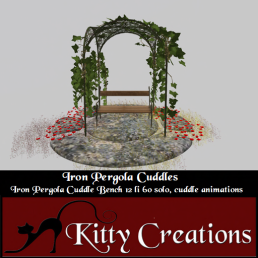 PIC Iron Pergola Cuddles - Kitty Creations