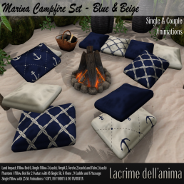 (PIC) Marina Campfire Set - Blue & Beige