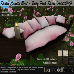 (PIC) Rustic Cuddle Boat - Baby Pink Roses (Adult&PG)