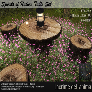 (PIC) Spirits of Nature Table Set
