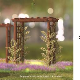 Simply Shelby Spring Garden Arbor Walnut - gift