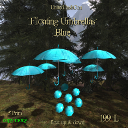 UI Floating Umbrellas Blue