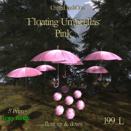 UI Floating Umbrellas Pink