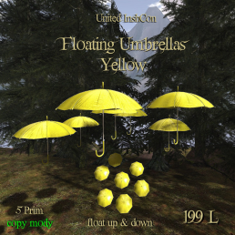 UI Floating Umbrellas Yellow