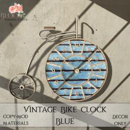 Bloom! - Vintage Bike Clock BlueAD