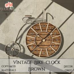 Bloom! - Vintage Bike Clock BrownAD