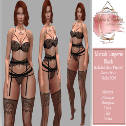 Estilosa & Vaidosa - Mariah Lingerie Black
