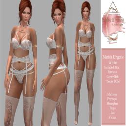 Mariah Lingerie White