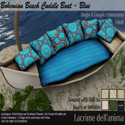 (PIC) Bohemian Beach Cuddle Boat - Blue