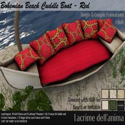 (PIC) Bohemian Beach Cuddle Boat - Red