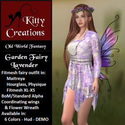 PIC Garden Fairy - Lavender - Kitty Creations