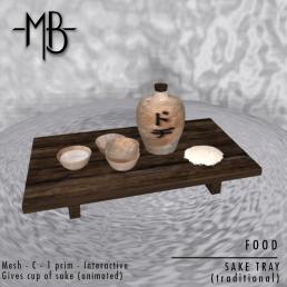 Sake tray w
