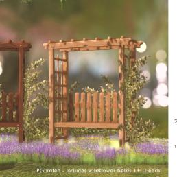 Simply Shelby Garden Arbor Bench spring