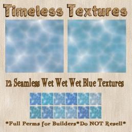 TT 12 Seamless Wet Wet Wet Blue Timeless Textures 35L SUN