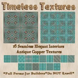 TT 16 Seamless Elegant Interiors Antique Copper Timeless Tex35L