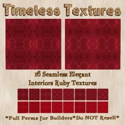 TT 16 Seamless Elegant Interiors Ruby Timeless Textures 35LSUN