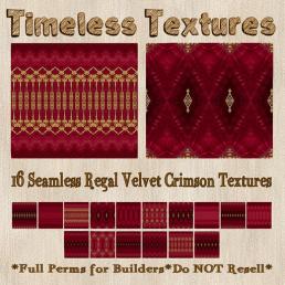 TT 16 Seamless Regal Velvet Crimson Timeless Textures 35LSUN
