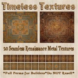 TT 20 Seamless Renaissance Metal Timeless Textures 35LSUN