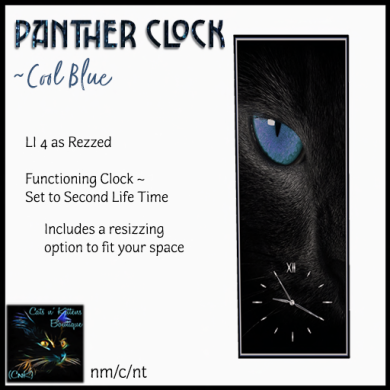 [AD - CnK] Panther Clock - Cool Blue